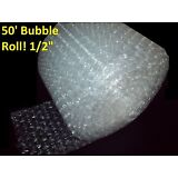 """50 Foot LARGE Bubble Wrap® Roll 12"""" Wide! 1/2"""" Bubbles! Perforated Every Foot"""