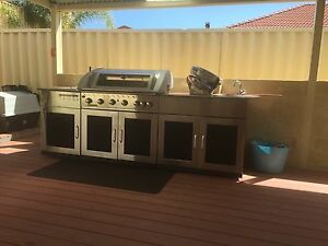 Matador Outdoor entertainer 6 burner BBQ kitchen with cover Cashmere Pine Rivers Area Preview