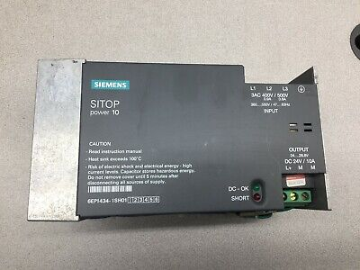 Used Siemens Sitop Power 10 24vdc 10amp Power Supply 6ep1434-1sh01