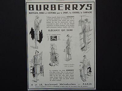 Burberrys Advertising, c.1920's L'Illustration Fashion