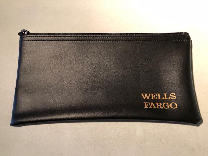 WELLS FARGO BANK Deposit Bag Zipper Money Bag A. RIFKIN CO. U.SA.