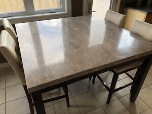 Real Marble Top Kitchen Table (Chairs Not Included)