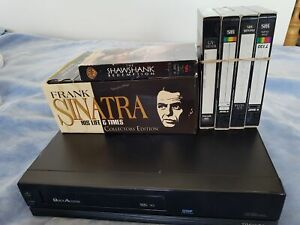Toshiba VCR + 10 tape Frank Sinatra Life and Times Collection