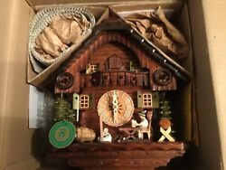 New 8 Day Beer Drinker Cuckoo Clock with Original Box and all Paper Work