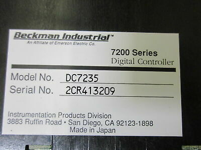 Beckman Industrial Pc7235 Writing On Boxnew In Box