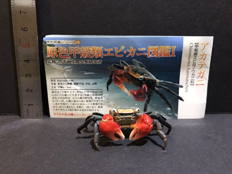 Yujin Takara Kaiyodo Retired Japan Exclusive Red Claw Crab Figure