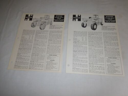 1960 & 61 HYSTER M500A & M600A STRADDLE TRUCK CARRIERS SALES BROCHURES