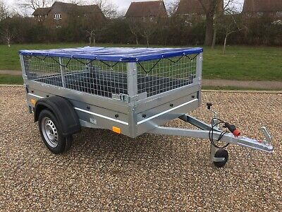 Car box camping trailer 7ft x 4ft Mesh and flat cover 750kg ALKO suspension