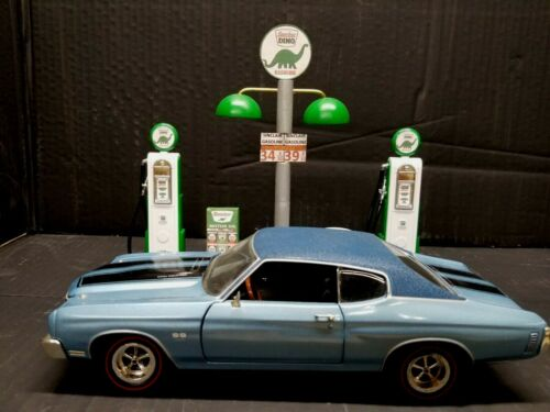 """"""" SINCLAIR """" GAS PUMP ISLAND W/ GAS PRICE SIGN, 1:18TH SCALE, HAND CRAFTED, NEW"""