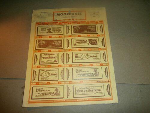 1974 Moorcones Movie Theater Bill Purcellville VA Billy Jack Herbie Conrack