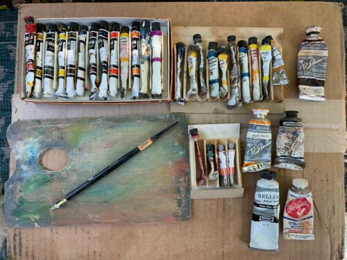 Vintage Tubes of OIL PAINT ~ Old Tubes of Oil Paint ~ Shiva Oil Paint