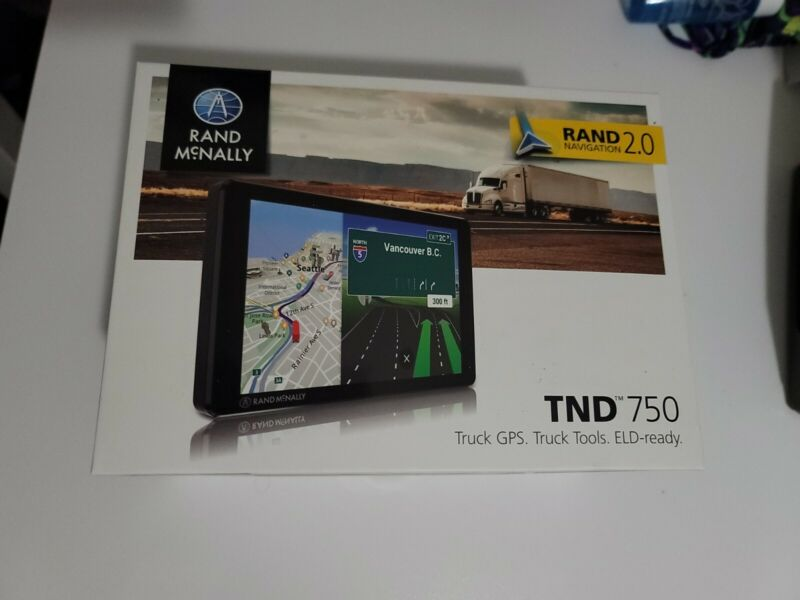 Brand New RAND McNALLY TND 750 Truck GPS