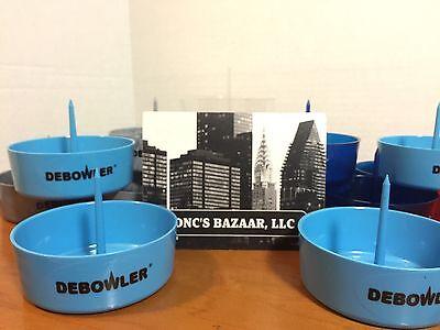 Light Blue Plastic Bowls (One Light Blue Debowler Plastic Ashtray With Built In Poker for Pipe Bowl Etc.!!)
