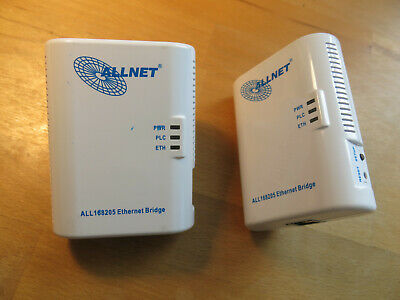 Allnet 200 Mbit Powerline Ethernet Bridge Bundle Powerline Adapter
