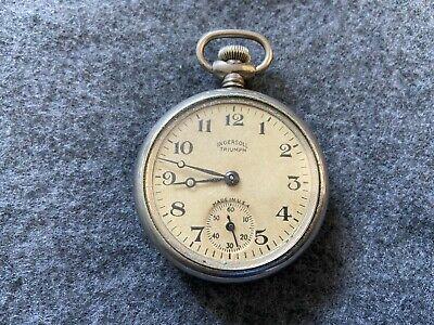 Ingersoll Triumph Mechanical Wind Up Vintage Pocket Watch
