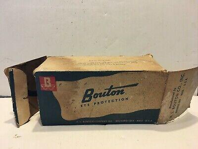 Vintage Bouton Welder Safety Goggles Eye Protection Green Lenses Steampunk Wbox