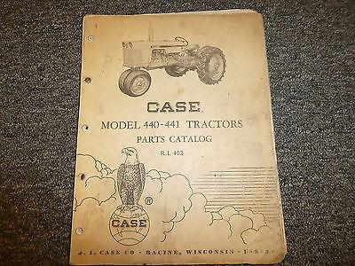 Case 440 441 Gasoline Farm Tractors Parts Catalog Manual Book Ri402
