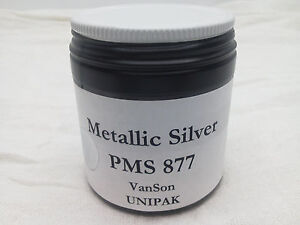 VanSon Unipak PMS 877 Metallic Silver - oil based pirnting ink (4.0oz.)