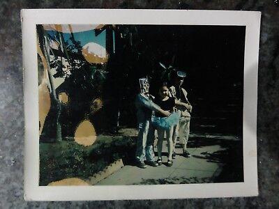 Polaroid Photo of Strange Kids in Costume Robot With Ballerina Vintage](Kids In Costume)