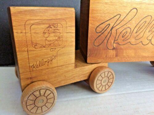 Toystalgia Wooden Bank Vintage Kellogg Semi Truck Coin Bank 1983