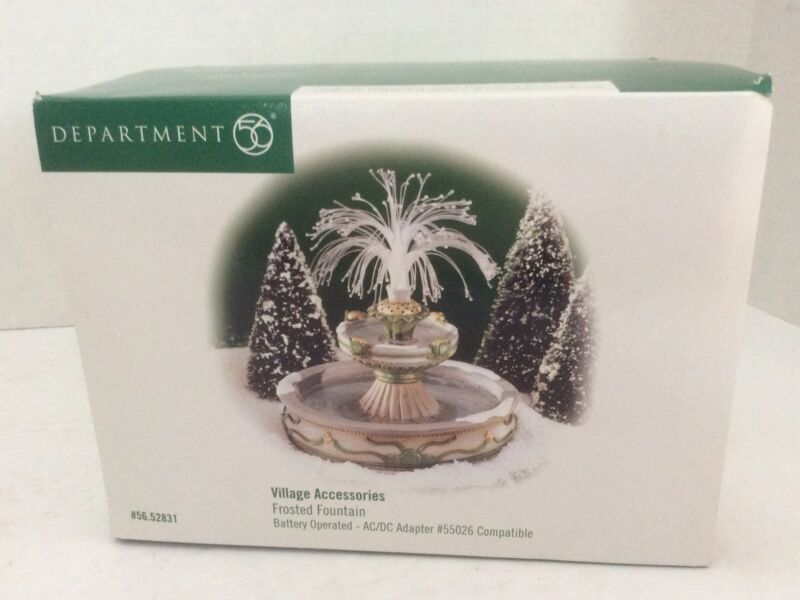 DEPT 56 Village Accessory Lighted Frosted Fountain. Retired