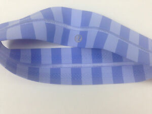 NWT-Lululemon-Apex-Blue-Lavender-Stripe-Fly-Away-Tamer-Headband-Hairband