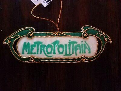Embroidered Plush Parisian Metro Sign Ornament, Christmas Tree Ornament ()