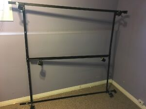 Queen/Double adjustable bed frame on wheels