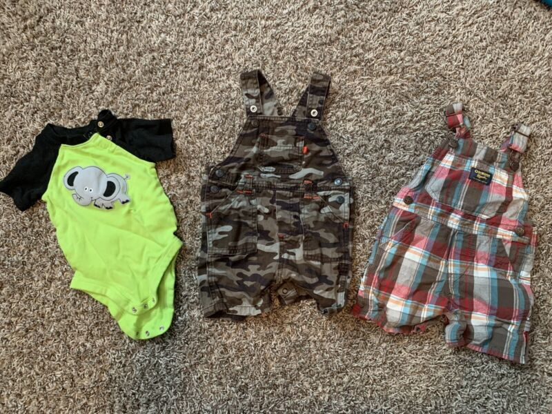 12 Months Boys Clothes Lot Spring Summer Euc Oshkosh Carters Cat And Jack