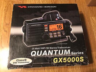 New In Box Standard Horizon Quantum GX5000S 25 Watt VHF Marine Transceiver