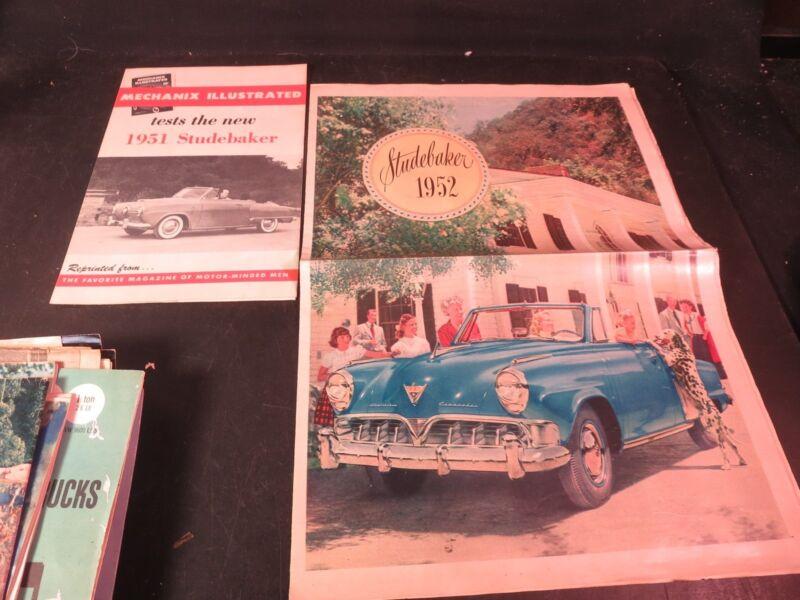 Original 1952 Studebaker Brochure & 1951 Mechanix Illustrated Excerpt Ad