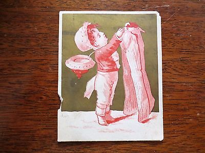 1800s Trade Card E.E. Dutchess County Millinery Store Child New York City NY  - Kid City Stores