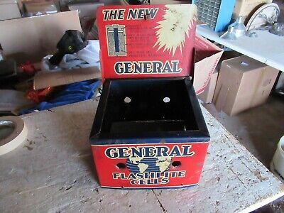 Vintage Metal Display Sign General Flashlite Cells Only 1 On Ebay! Lot 20-79-5
