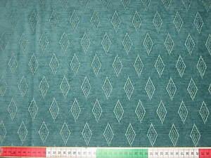 Möbelstoff Stoff Polsterstoff / Dekostoff / Grün Rauten gemustert / Antik , Stil