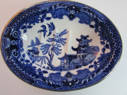 Vintage Burleigh Ware - Willow Porcelain Soap dish