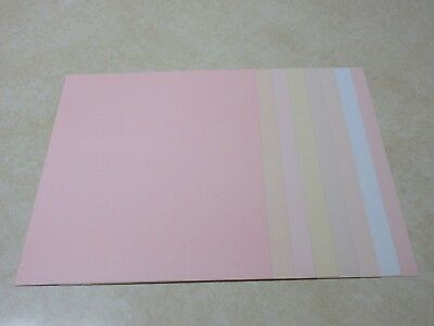 SALE!! 8.5 x 11 TEXTURED CARDSTOCK PAPER - WEDDING PASTEL COLORS - 8 SHEETS - Cardstock Texture