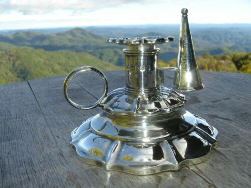 Large English Sterling Silver Georgian Chamber Candlestick 1790 SPRING SALE