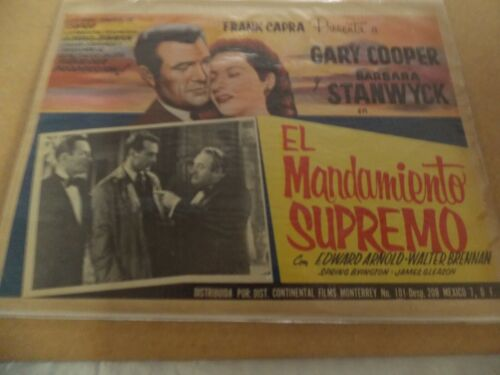 MR. DEEDS GOES TO TOWN(1936)GARY COOPER ORIGINAL MEXICAN LOBBY CARD 12BY16