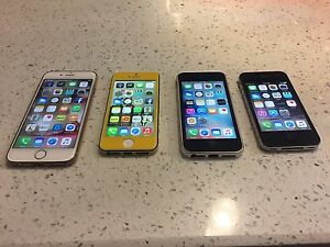 IPhone 6, iPhone 5 and iPhone 4S