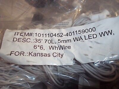 BNIP 35' ROPE STRING LIGHTS 35 FT 70 LIGHTS HOLIDAY CHRISTMAS INDOOR OUTDOOR W@W