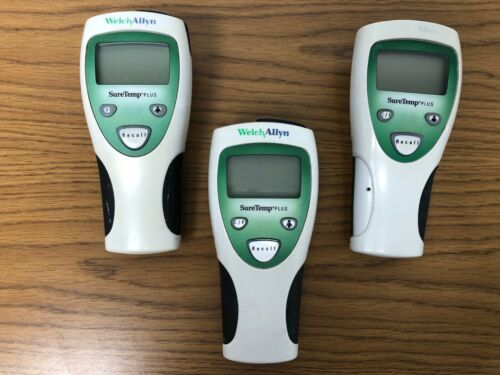 Lot of 3 Welch Allyn 690 Digital SureTemp Plus Thermometer