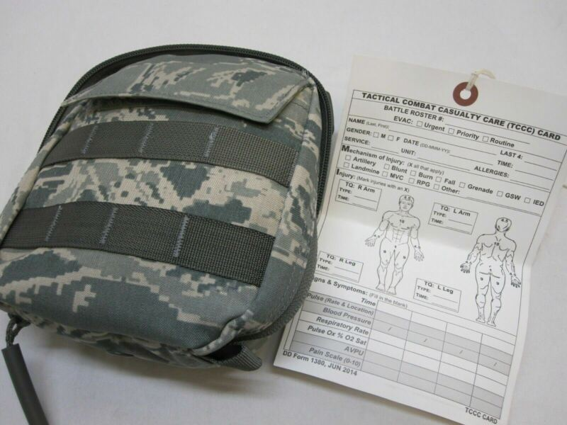 NEW AIR FORCE IFAK JFAK BAG (EMPTY) FIRST AID KIT MOLLE POUCH w. CASUALTY CARD