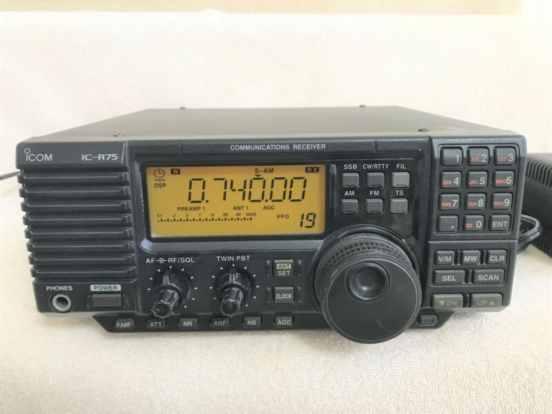 Icom IC-R75 Shortwave Communications Receiver w/ Sync Detector, and DSP