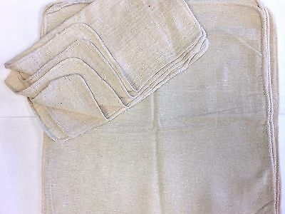 1000 Pieces Industrial Shop Rags Cleaning Towels Natural 13x14