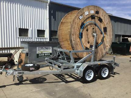 CABLE DRUM MACHINERY TRAILER ADJUSTABLE ARMS