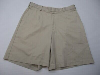 TIGER WOODS Shorts Men's Size 36 Golf Casual Pleated Front Beige