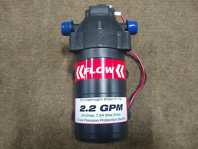 2.2 Gpm 12v 70psi Diaphragm Pump With Filtration System