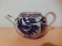 Tetera China Porcelana China Decoración Follaje Azul Blanco -  - ebay.es