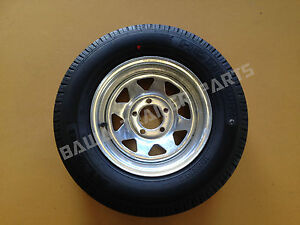 GALVANISED-14-FORD-RIM-WITH-185-LT-TYRE-Trailer-Parts