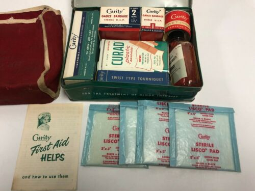 vintage CURITY Automobile First Aid Kit